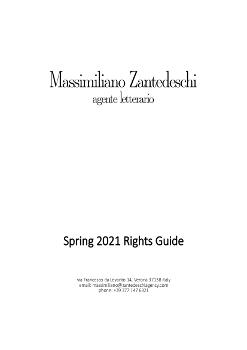 Zantedeschi Agency Foreign Rights Spring 21